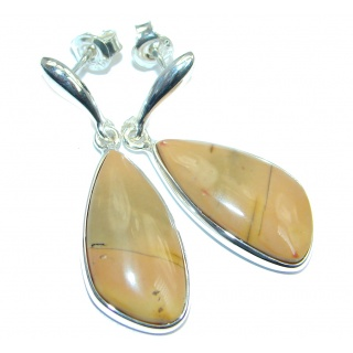 Natural Beauty Imperial Jasper Sterling Silver handmade Earrings