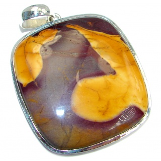 Large Fancy AAA quality Mookaite Sterling Silver handmade Pendant