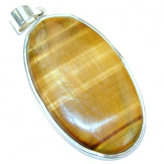 Spectacular Golden Tigers Eye Sterling Silver handmade Pendant