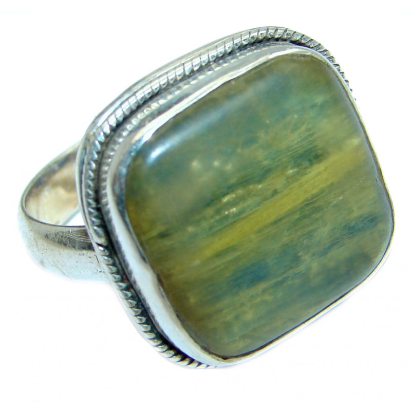 Authentic Blue Kyanite Sterling Silver handmade Ring s. 10