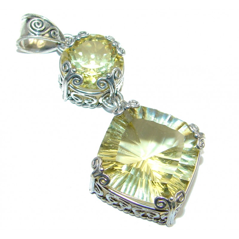 Treasure Golden Magic Quartz Sterling Silver Pendant