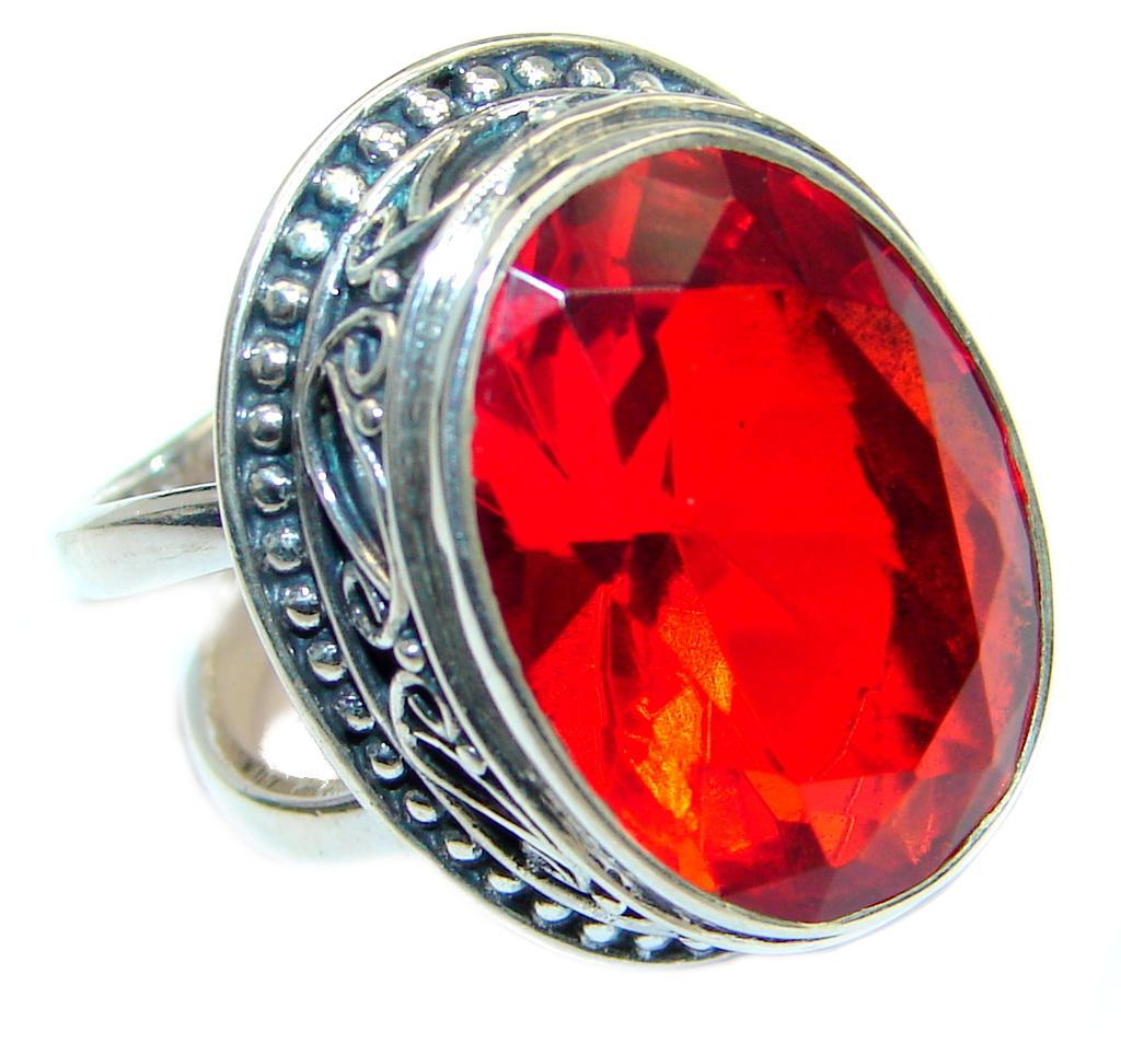 energazing quartz sterling silver ring size adjustable