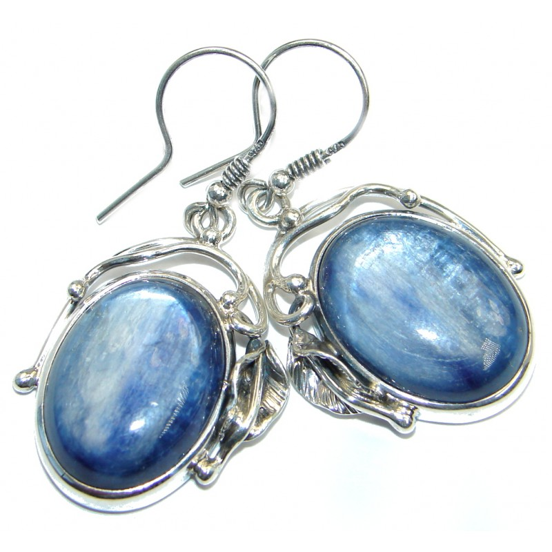 Be Bold Authentic Kyanite handmade Sterling Silver earrings