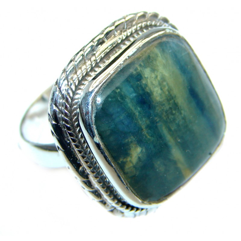 Authentic Blue Kyanite Sterling Silver handmade Ring s. 7 1/4