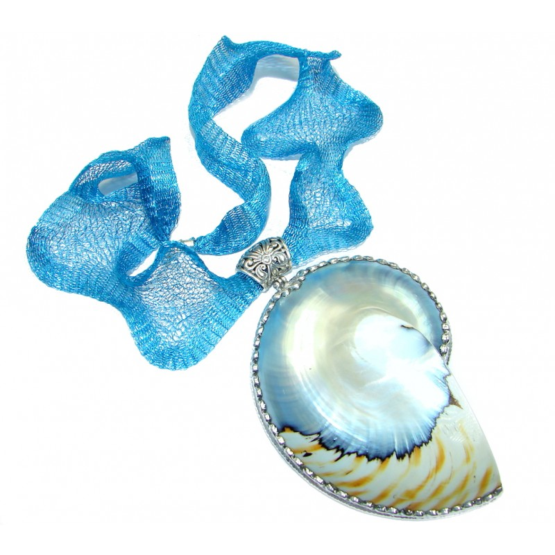 Giant New Design Ocean Shell Sterling Silver necklace