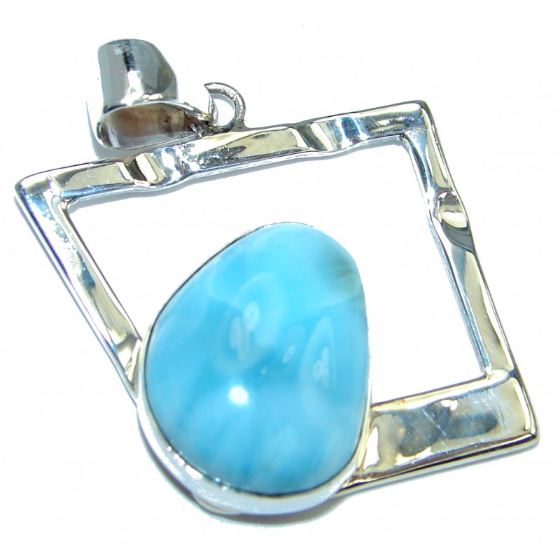 Sublime Authentic Larimar Sterling Silver handmade Pendant