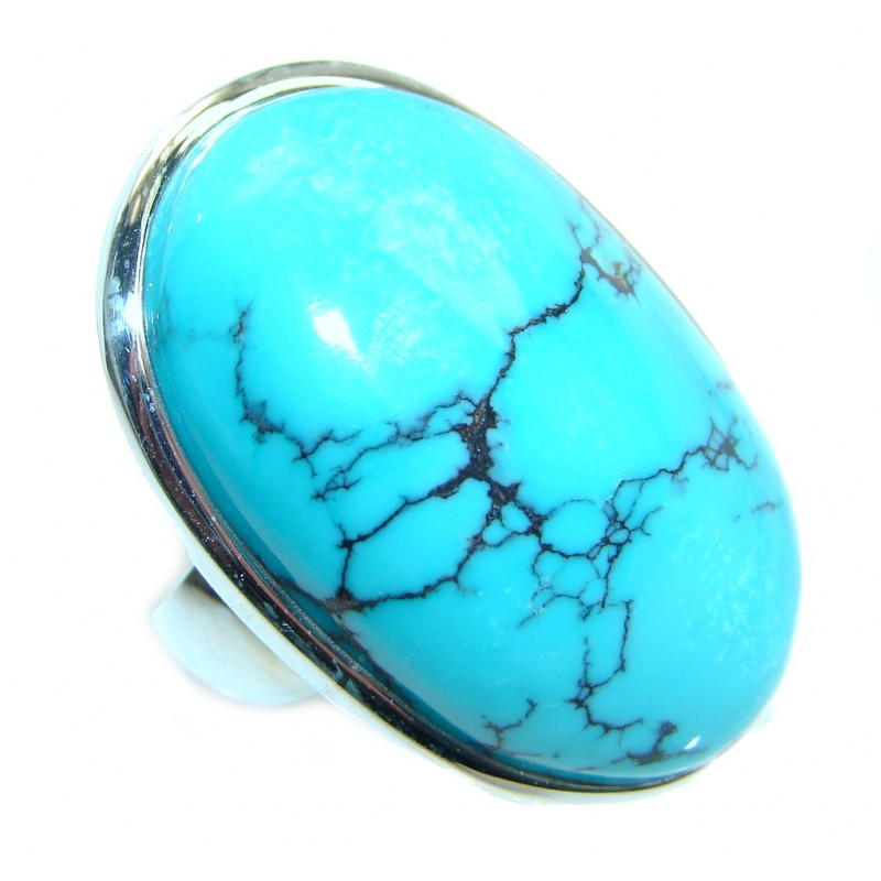 Authentic Turquoise Sterling Silver handmade ring size 7