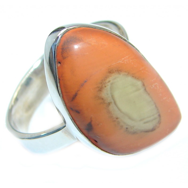 Charming Design authentic Imperial Jasper Sterling Silver ring size 10