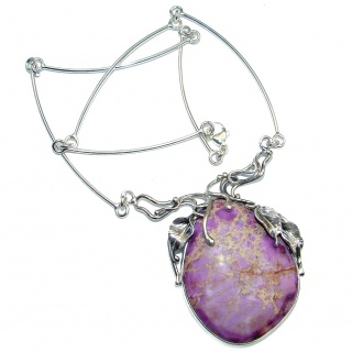 Stella Purple Sea Sediment Jasper Sterling Silver handmade necklace
