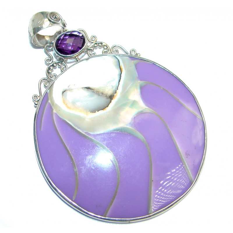 Rich Design Genuine Shell Sterling Silver handmade Pendant