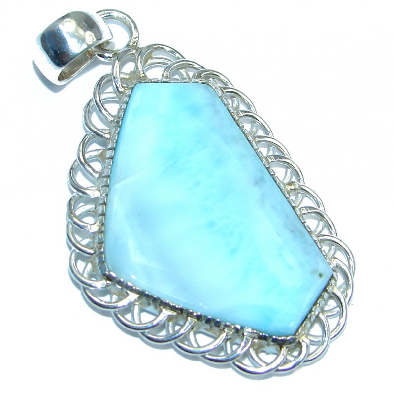 Authentic Beauty Larimar Sterling Silver handmade Pendant