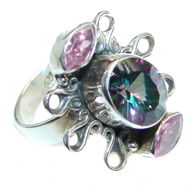MaGIC Quartz Sterling Silver handmade ring size 8