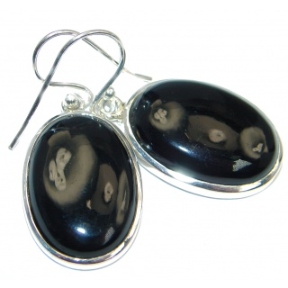 Genuine Onyx Sterling Silver handcrafted Earrings