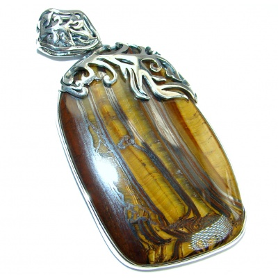Incredible quality Golden Tigers Eye Sterling Silver handmade Pendant