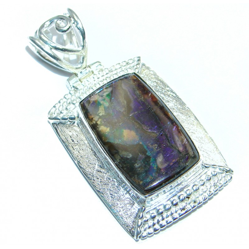 Authentic Beauty Ammolite Sterling Silver handmade Pendant