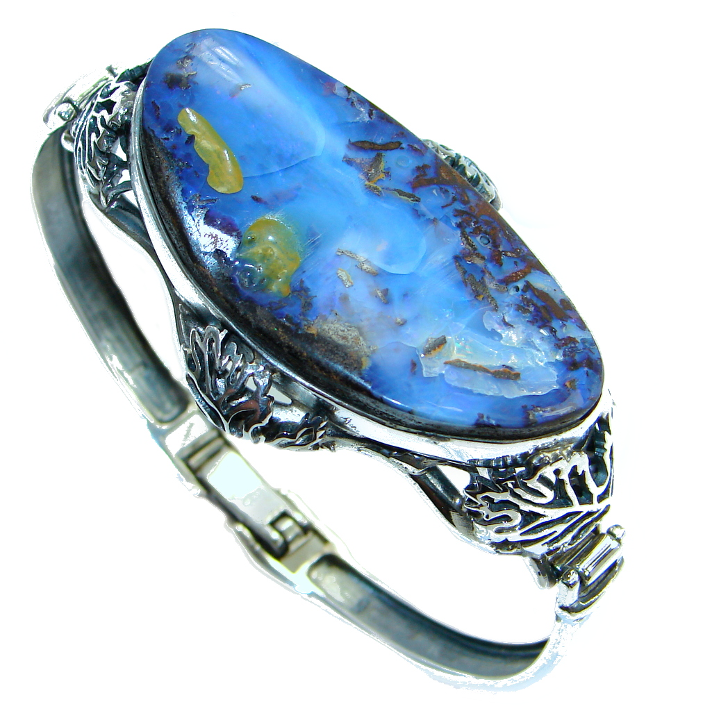 Norwegian Northern Lights Aaa Boulder Opal Handmade