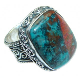 Perfect Sonora Jasper Sterling Silver handcrafted Ring size adjustable