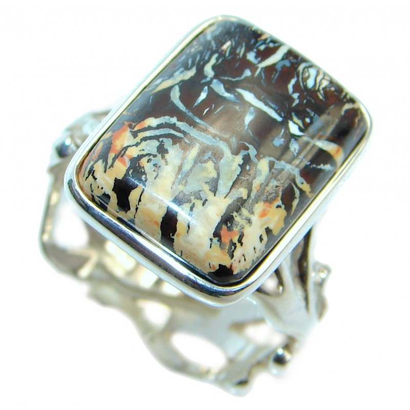 Beautiful Australian Koroit Opal Sterling Silver handcrafted Ring size 7 1/2