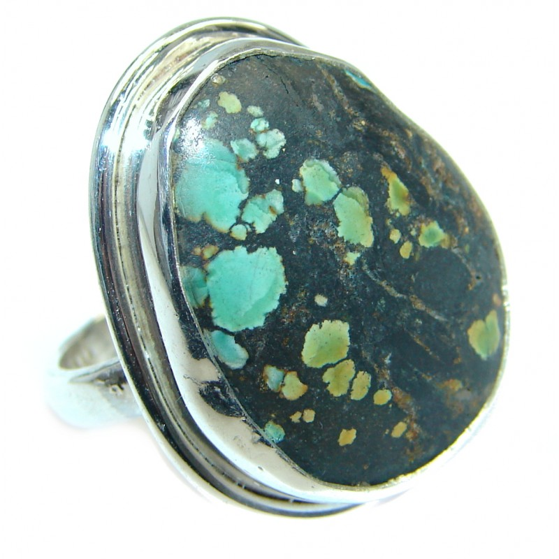 Turquoise Sterling Silver handmade Ring s. 5