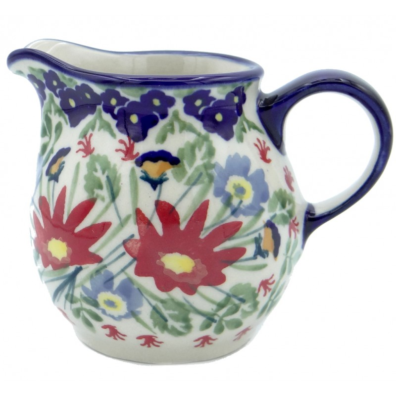 SilverrushStyle - Polish Pottery Creamer - Flower Fields Collection