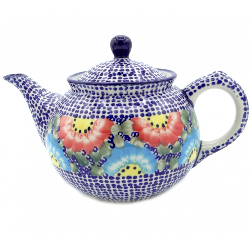 SilverrushStyle - Polish Pottery Regular Teapot - Garden of Eden Collection