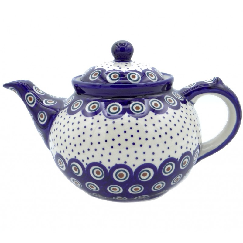 SilverrushStyle - Polish Pottery Large Teapot - Magic Dots Collection
