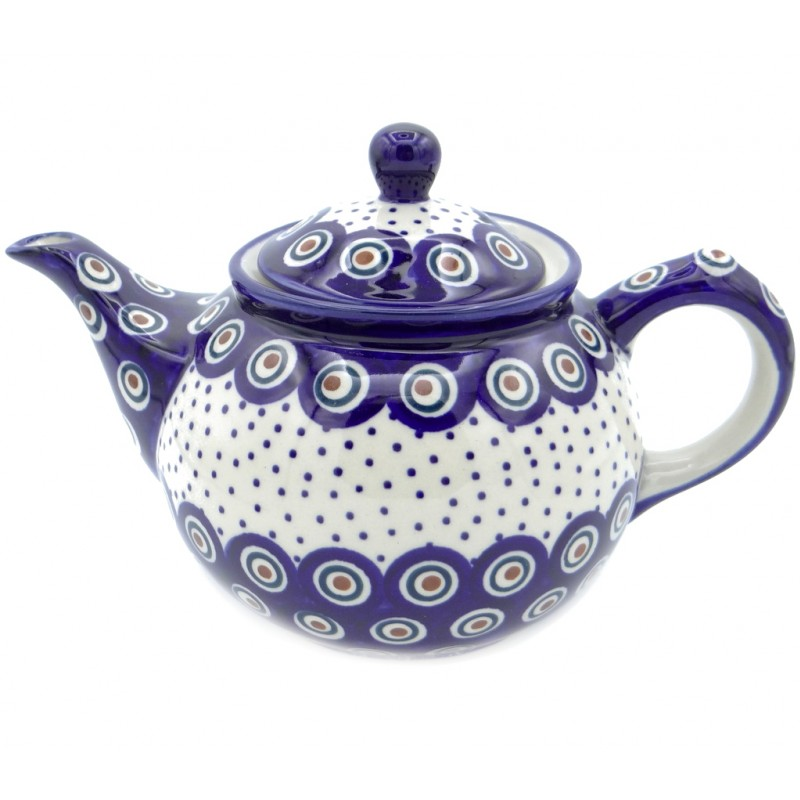 SilverrushStyle - Polish Pottery Regular Teapot - Magic Dots Collection
