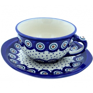 SilverrushStyle - Polish Pottery Teacup & Saucer - Magic Dots Collection