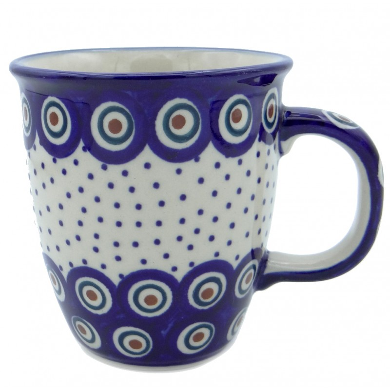 SilverrushStyle - Polish Pottery Coffee Mug - Magic Dots Collection