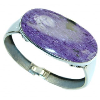 Lavender Dreams Authentic Siberian Charoite Sterling Silver handmade Bracelet
