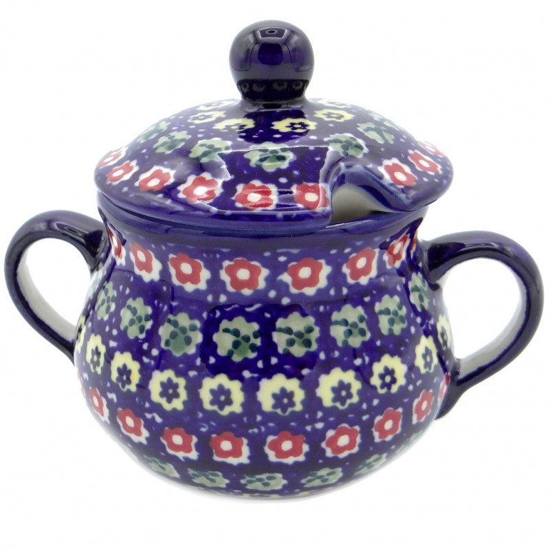 SilverrushStyle - Polish Pottery Sugar Bowl - Spring Flowers Collection