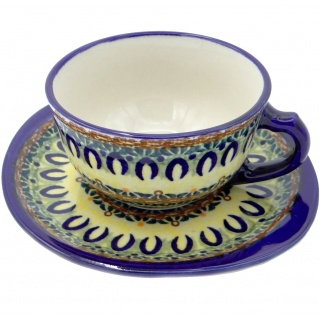 SilverrushStyle - Polish Pottery Teacup & Saucer - Enchanted Forest Collection