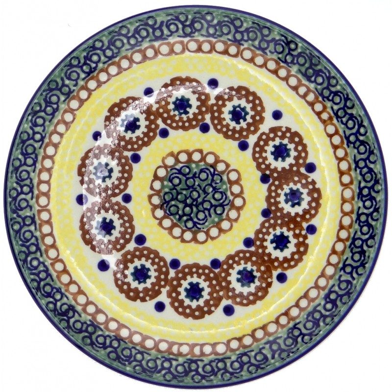SilverrushStyle - Polish Pottery Dessert Plate - Sunny Valley Collection