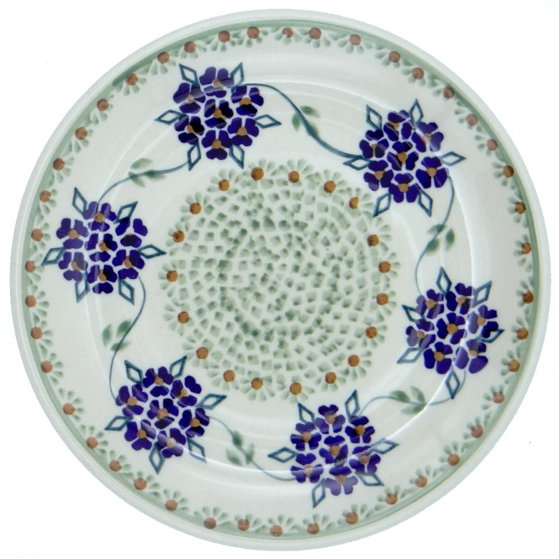 SilverrushStyle - Polish Pottery Dessert Plate - Forget-Me-Nots Collection