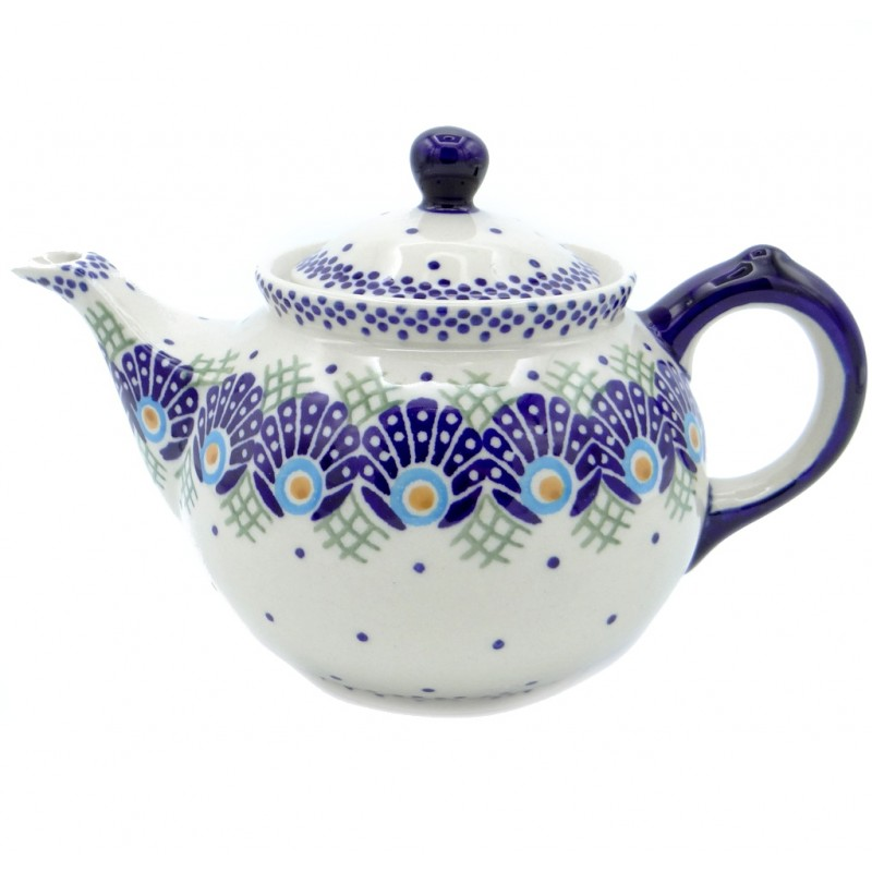 SilverrushStyle - Polish Pottery Regular Teapot - Peacock Collection