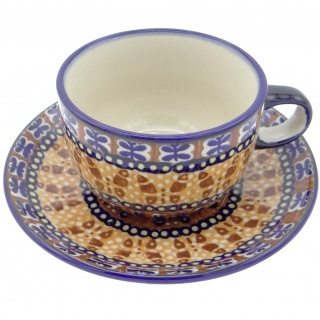 SilverrushStyle - Polish Pottery Teacup & Saucer - Butterfly Collection