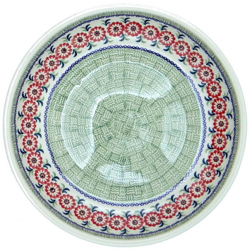 SilverrushStyle - Polish Pottery Large Pasta Bowl - Green Valley collection