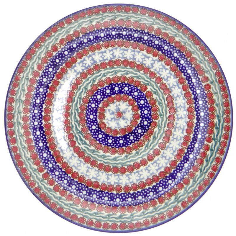 SilverrushStyle - Polish Pottery Large Dinner Plate - Summer Collection