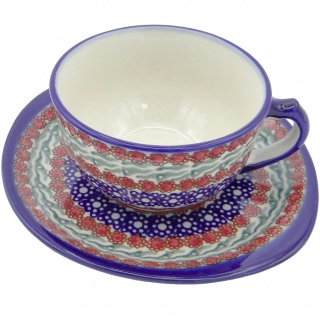 SilverrushStyle - Polish Pottery Teacup & Saucer - Summer Collection