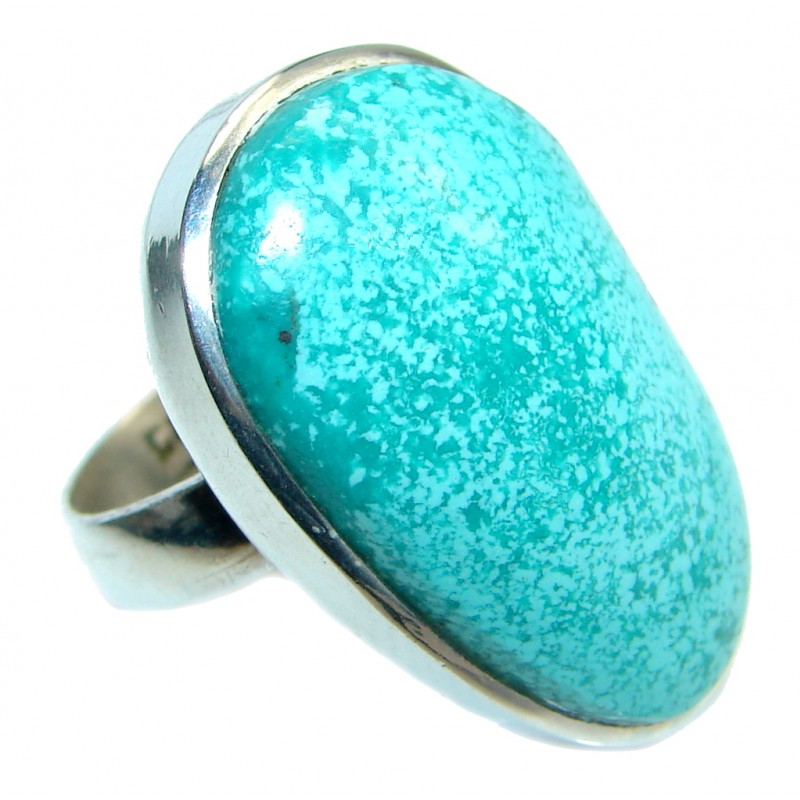 Genuine Turquoise Sterling Silver handmade Ring s. 6