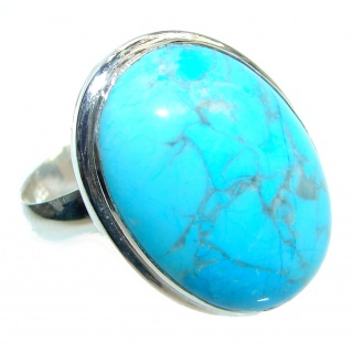 Sea Sediment Jasper handmade Sterling Silver ring size 7 adjustable