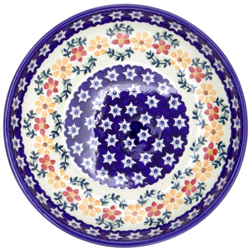 SilverrushStyle - Polish Pottery Large Pasta Bowl - Sunflowers collection
