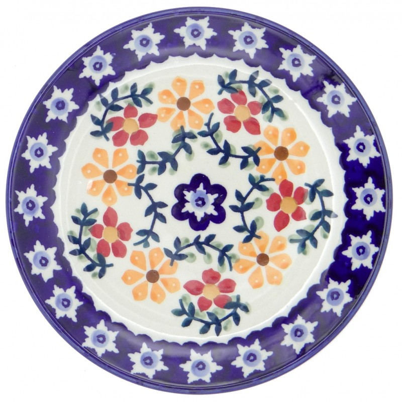 SilverrushStyle - Polish Pottery Dessert Plate - Sunflowers Collection