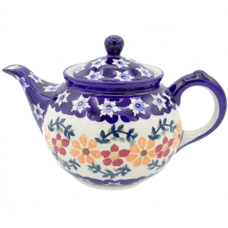 SilverrushStyle - Polish Pottery Regular Teapot - Sunflowers Collection