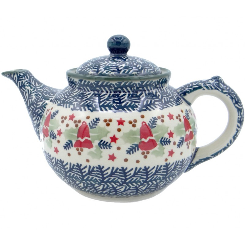 SilverrushStyle - Polish Pottery Large Teapot - Holiday Collection