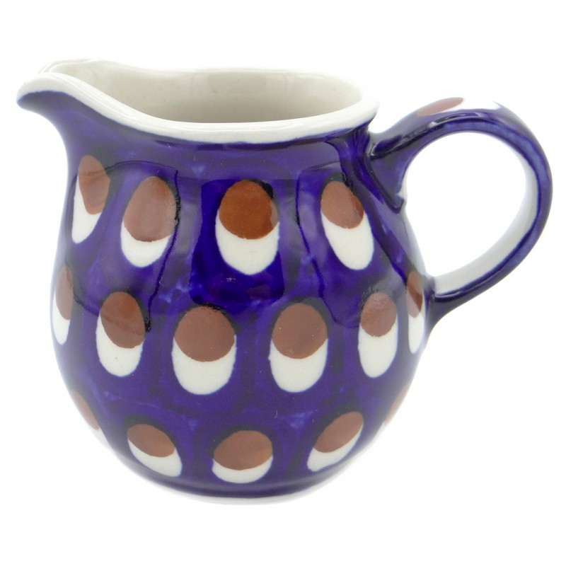 SilverrushStyle - Polish Pottery Creamer - Peacock Pride Collection