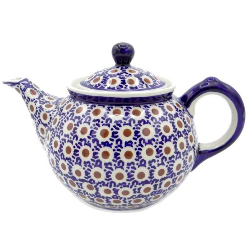 SilverrushStyle - Polish Pottery Regular Teapot - Peacock Tail Collection