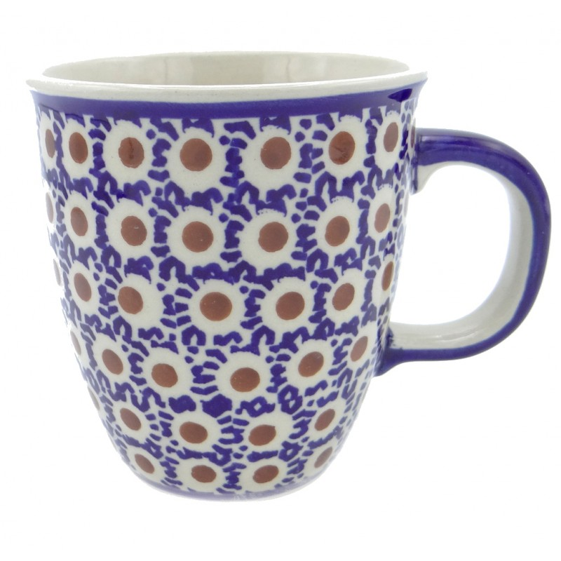SilverrushStyle - Polish Pottery Coffee Mug - Peacock Tail Collection