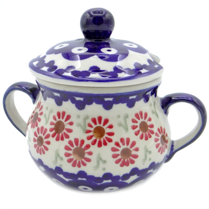SilverrushStyle - Polish Pottery Sugar Bowl - Summer Meadow Collection