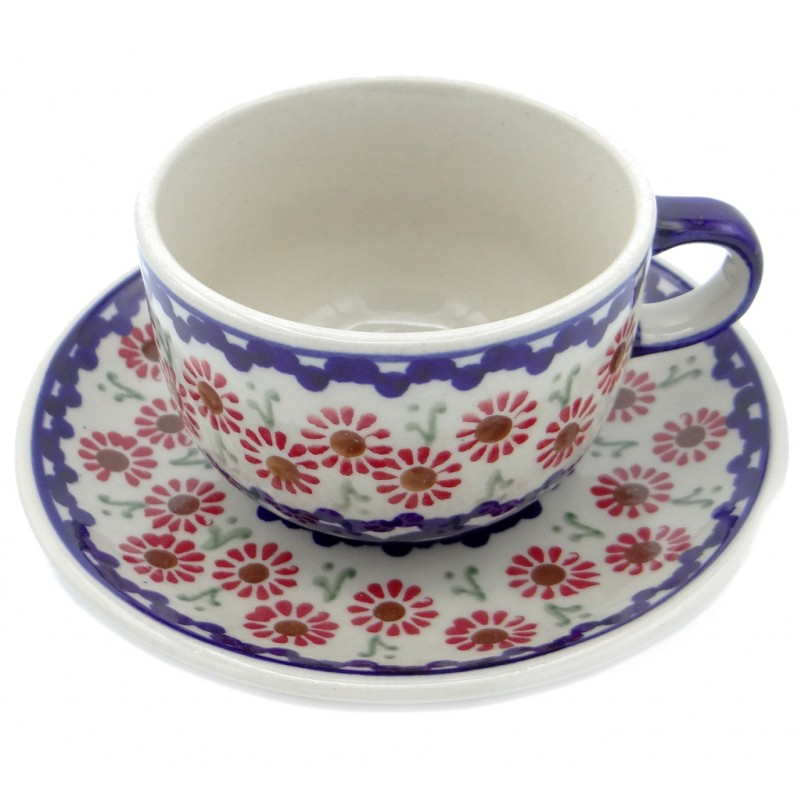 SilverrushStyle - Polish Pottery Teacup & Saucer - Summer Meadow Collection